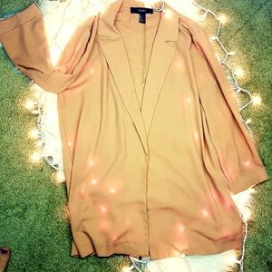 Forever21 Creamy Pink Long Blazer